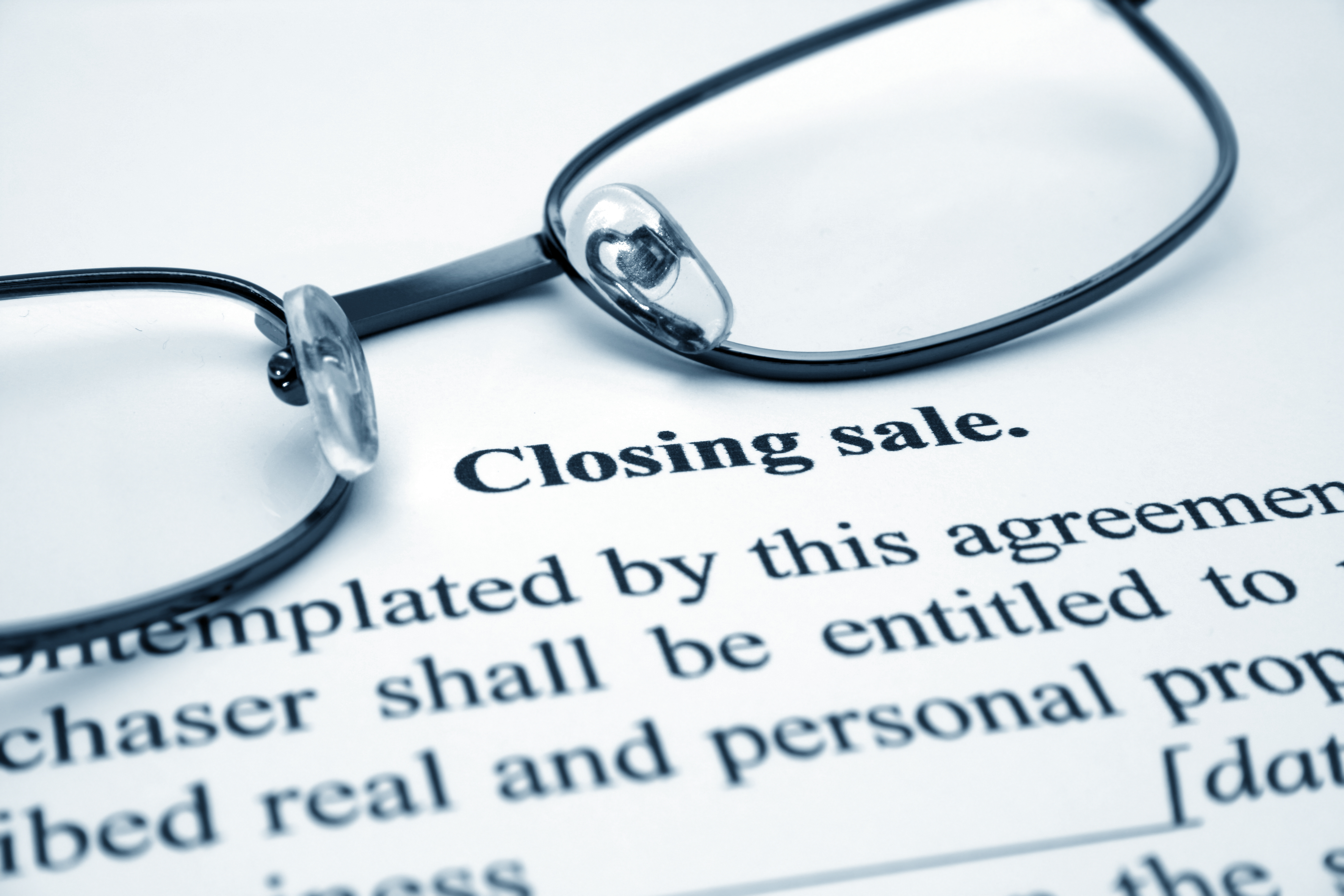 real estate attorney closing sale document
