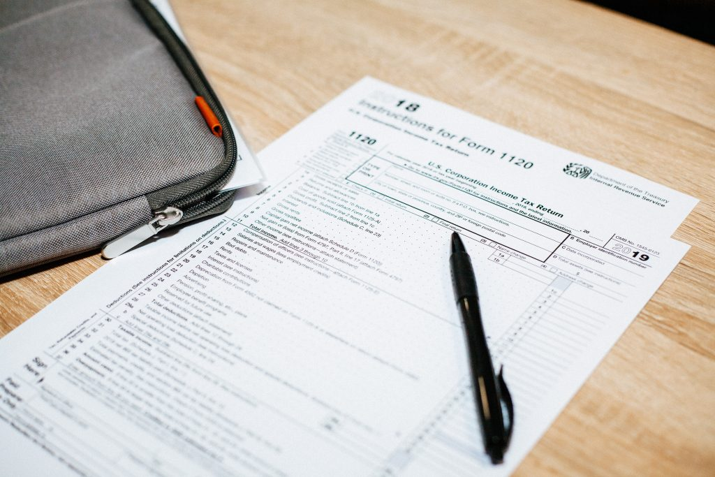 blank tax documents for income taxes
